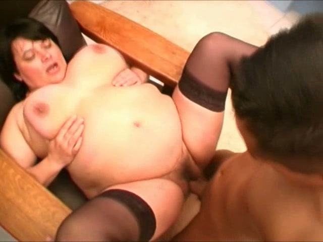 Young girls bounce on fat cock